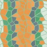 多橙色和绿色传染媒介无缝的样式 库存图片