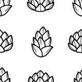 多汁植物2个样式在黑概述的在白色背景 向量例证