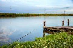 多沼泽的支流Lafourche,路易斯安那 免版税库存图片