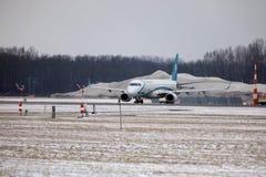 多洛米蒂航空公司巴西航空工业公司ERJ-195 I-ADJU离开 免版税库存图片