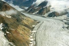 多灰尘的冰川在Kluane国家公园,育空01 库存图片