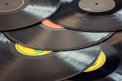 多灰尘的唱片 库存照片