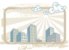 多灰尘的城市 免版税库存照片
