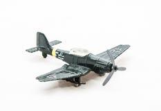 多灰尘的玩具德国WWII飞机 库存照片
