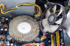 多灰尘的计算机零件 免版税图库摄影