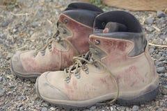 多灰尘的远足的起动 免版税库存照片