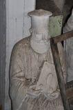 多灰尘的雕象正统教士 免版税图库摄影