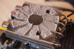 多灰尘的CPU致冷机 免版税库存图片