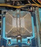 多灰尘的CPU 库存照片