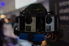 多照相机船具360 VR系统 库存图片