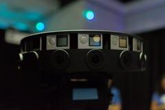 多照相机船具360 VR系统 免版税库存照片