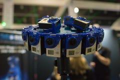多照相机船具360 VR系统 图库摄影