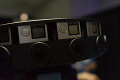 多照相机船具360 VR系统 库存照片