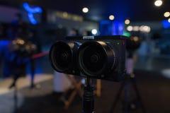 多照相机360 VR系统 免版税库存照片