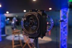 多照相机360 VR系统 库存图片