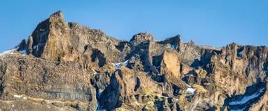 多熔岩流在冰岛 图库摄影