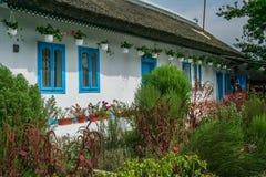 多瑙河三角洲的传统房子, Letea,罗马尼亚 库存照片