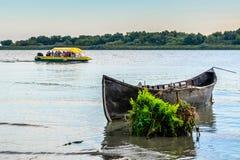 多瑙河三角洲,罗马尼亚- 2015年10月16日, :多瑙河三角洲 免版税库存照片