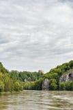 多瑙河和Befreiungshalle 库存图片