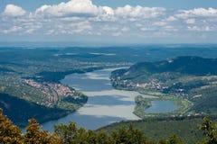 多瑙河在匈牙利 免版税库存照片