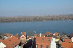多瑙河在泽蒙,贝尔格莱德 免版税库存照片