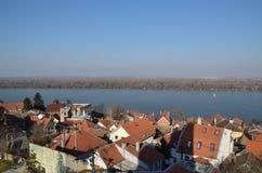 多瑙河在泽蒙,贝尔格莱德 免版税库存图片