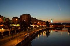 多瑙河在维也纳 库存图片