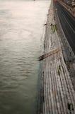 多瑙河堤防,布达佩斯,匈牙利 图库摄影