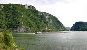多瑙河峡谷河 库存照片