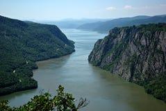 多瑙河峡谷铁门 库存图片