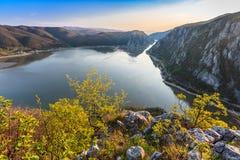 多瑙河峡谷,罗马尼亚 免版税库存照片