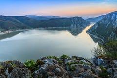 多瑙河峡谷,罗马尼亚 库存图片