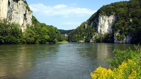 多瑙河峡谷 免版税库存图片