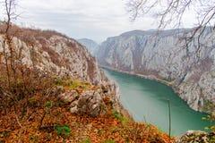 多瑙河峡谷 库存图片