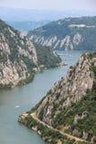 多瑙河峡谷- Cazanele Dunarii 库存图片