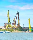 多瑙河工业货物口岸 免版税库存照片