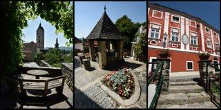 多瑙河畔克雷姆斯,瓦豪,奥地利 库存图片