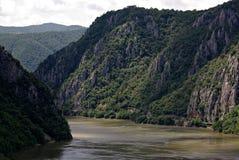 多瑙河的小喀山峡谷 库存图片