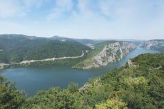 多瑙河的峡谷 库存照片