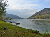 多瑙河的看法,区域瓦豪 库存图片