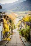多瑙河的看法, Durnstein 库存图片