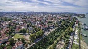 多瑙河的看法从上面 免版税库存图片