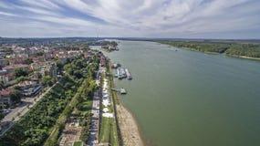 多瑙河的看法从上面 免版税库存照片
