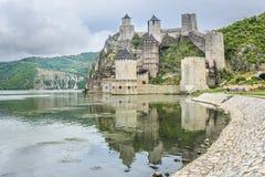多瑙河的老堡垒 库存照片