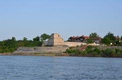 多瑙河的老堡垒 免版税库存照片
