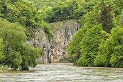 多瑙河突破 库存图片