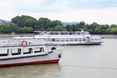 多瑙河船 免版税库存照片