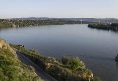 多瑙河视图在诺维萨德 免版税库存照片