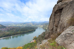 多瑙河谷在瓦豪;奥地利 库存照片