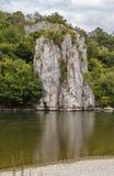 多瑙河,德国的岩石岸 免版税库存照片